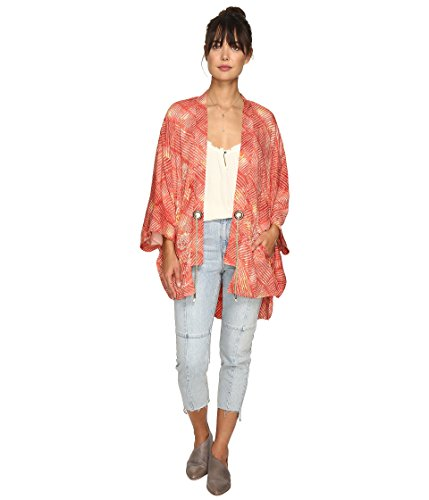 Free People Printed Rope-Belt Kimono One Size MSRP: $198.00