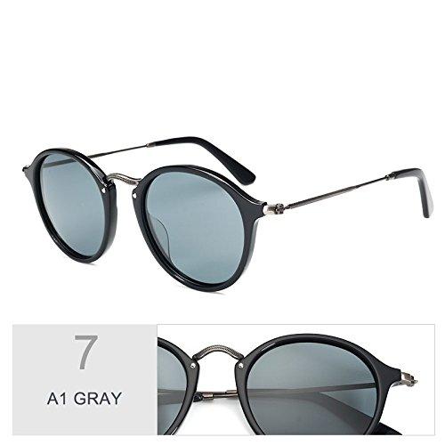 C19 Madera Polarizadas TIANLIANG04 De GRAY Gafas Azul Uv400 A1 De Sol Redondas Gafas Unisex Similares SHHwPq1A