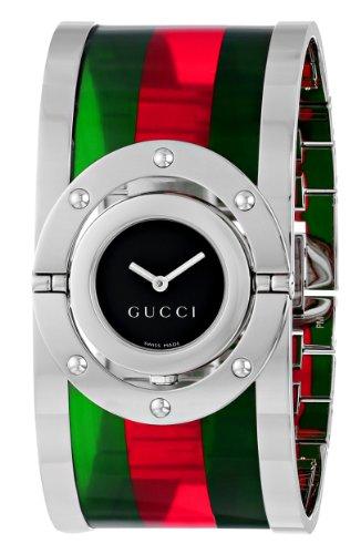 1cf375e187e Jual Beli Gucci Women s YA112417 Twirl Medium Green Red Green ...