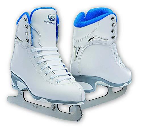 Jackson JS 181 SoftSkate Girls Figure Ice Skates (Blue, 1)