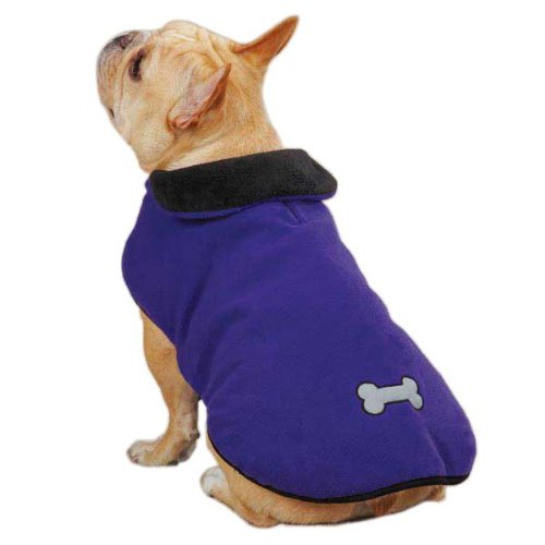 East Side Collection Reflective Thermal Pet Jacket, XX-Large, Ultra purple