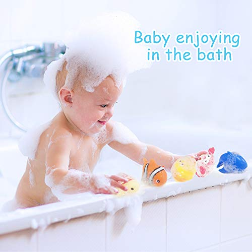 PIETFIU Baby Bath Toy Fishing Game in The Bathtub Toddler Toy Floating Sea Animal Shark Gift Baby Bathroom Pool Toy Kids Beach Toys for 1 2 3 Years Old