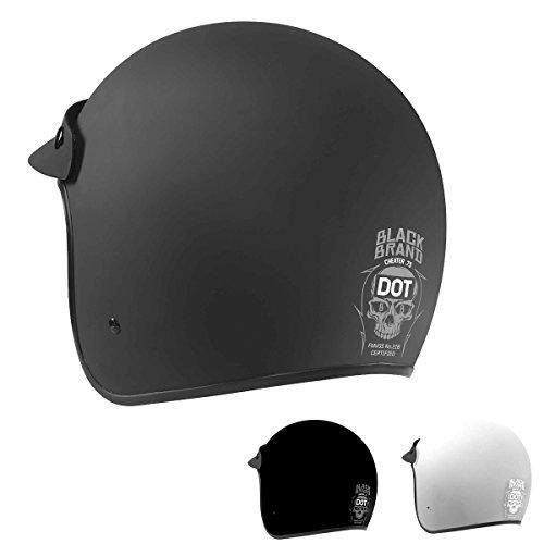 Black Brand CHEATER .75 GL WHT SM Cheater .75 Helmet, Distinct Name: Gloss White, Gender: Mens/Unisex, Helmet Category: Street, Helmet Type: Half Helmets, Primary Color: Black, Size: Sm