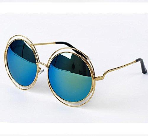 YKQJING Gafas de sol Gafas de sol redondos grandes ...