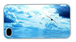 Hipster awesome iPhone 4S covers Bird over Ocean PC White for Apple iPhone 4/4S