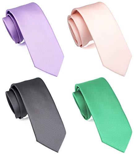 Purple/Carnatio/Aqua/Emerald Solid Skinny 2.5