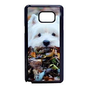 Cute Westie pup Funda Samsung Galaxy Note 5 Funda Caja del teléfono celular Negro A8Q6LS