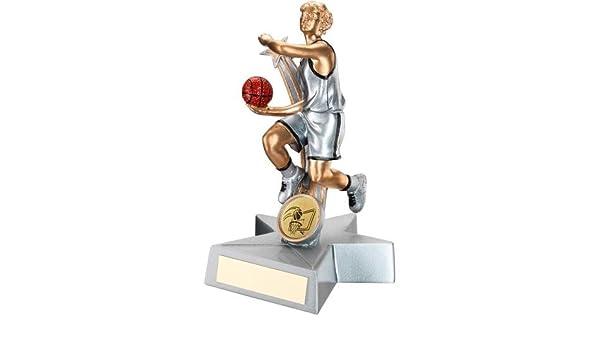 Trofeo de Baloncesto para Mujer – Mujer en Resina de Color Dorado ...