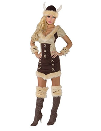 Underwraps Costumes Women's Viking Queen Costume, Brown/Tan, Medium -