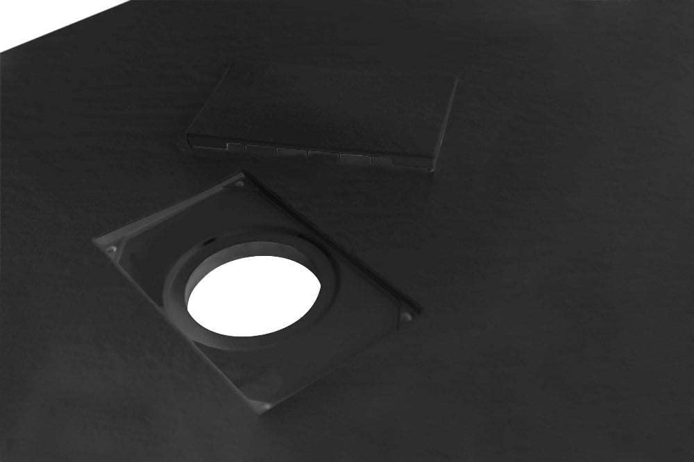 Couleur Anthracite 100x70 Anthracite Effet Pierre Ardoise Essence ArredoBagno Receveur de Douche en Verre Ultra Fin en Fibre de Verre SMC /Épaisseur 2,6 cm Bonde Incluse