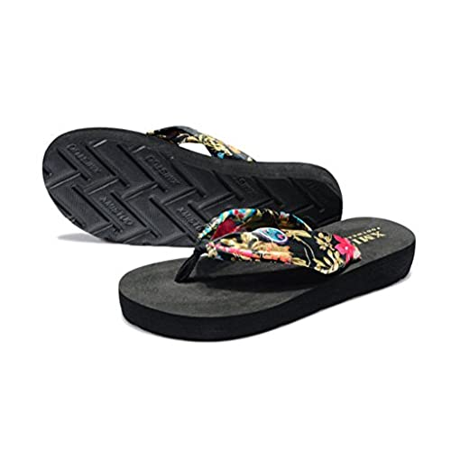 6fc93516e45d Women Bohemia Summer Beach Sandals Wedge Platform Thongs Slippers Flip Flops  high-quality