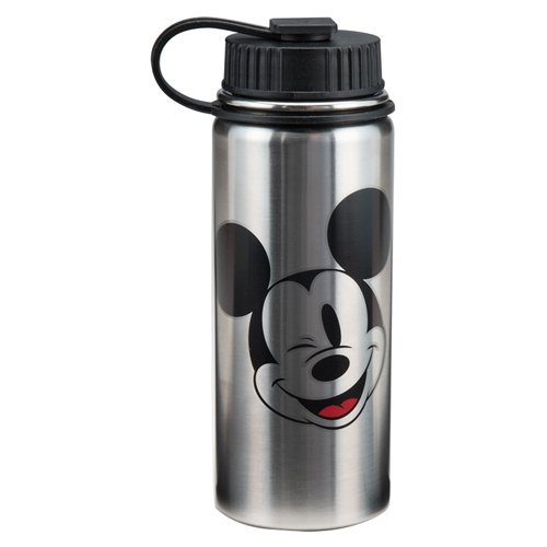 Vandor 89009 Disney Mickey Mouse 18 Ounce Vacuum Insulated Stainless Steel Bottle, Silver