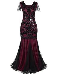 Sequin1920s Flapper Long Formal Dress