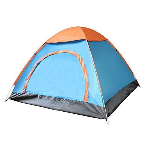 Techcell 2 Seconds Open Pop Up Throw Tent 3-4 Person Tent Hiking Fast Set-Up C&ing Instant Tent Waterproof Tent Backpacking Tents for C&ing Hiking ...  sc 1 st  Trek-O-Hike & Techcell 2 Seconds Open Pop Up Throw Tent 3-4 Person Tent Hiking ...