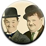 Laurel And Hardy Badge by RetroBadge