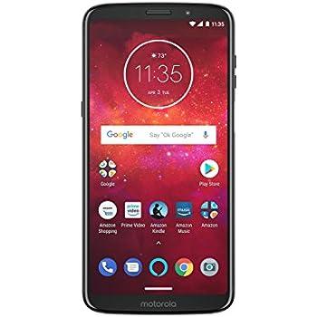 Motorola PA9S0002US Moto Z3 Play – Unlocked (AT&T/Sprint/T-Mobile/Verizon) – Prime Exclusive Phone, 64 GB, Deep Indigo