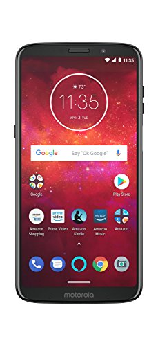 Moto Z3 Play with Alexa Hands-Free - 64 GB - Unlocked (AT&T/Sprint/T-Mobile/Verizon) - Deep Indigo - Prime Exclusive Phone