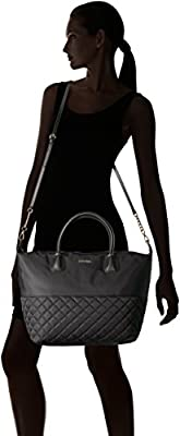 Calvin Klein Florence Quilted Nylon Small Top Zip Tote