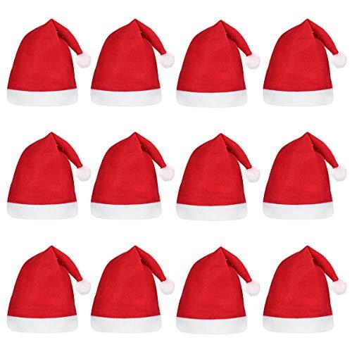 Tinksky Santa Hats Christmas Hats for Children 12pcs]()