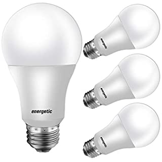 60W Equivalent, A19 LED Light Bulb, 5000K Daylight, E26 Medium Base, Non-Dimmable LED Light Bulb,750lm,UL Listed 4 Pack