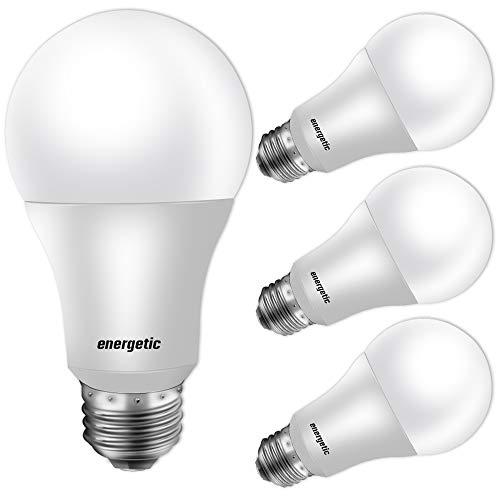 60W Equivalent, A19 LED Light Bulb, 5000K Daylight, E26 Medium Base, Non-Dimmable LED Light Bulb,750lm,UL Listed 8-Pack (5000K Daylight, 4 Pack)
