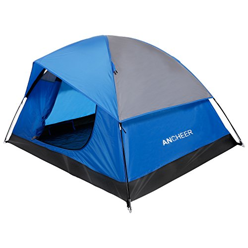 ANCHEER Festival Tent Easy Setup 2 Person Camping Hiking Tent Waterproof and Lightweight Dome Tent Double Layers with Carry Bag