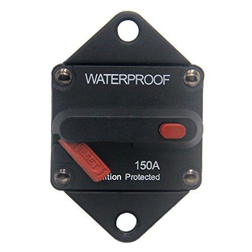 ZOOKOTO 150A Circuit Breaker, Hi-Amp Fuse Inverter with Manual Reset for Marine Auto Truck ATV Caravan, Waterproof, 12V- 48V DC 150 Amps ()