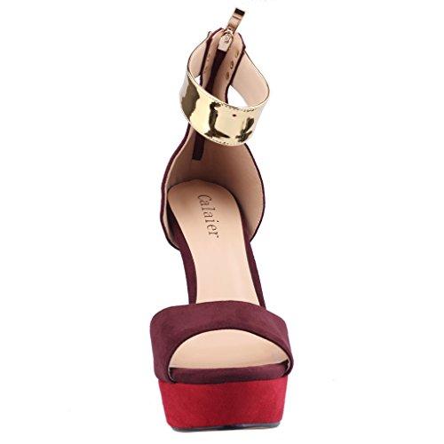 Calaier Womens Caseem Sandali Con Tacco A Spillo 14,5 Cm Stiletto Rosso