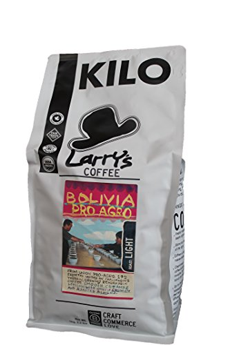 Larry's Organic Fair Trade Whole Bean Coffee, Bolivia - Light Roast, 2.2 Pound