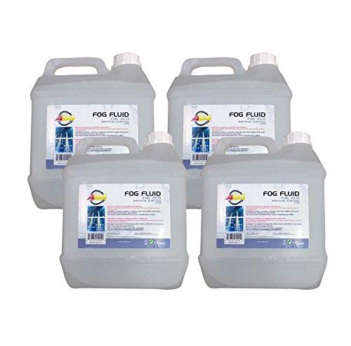 (4)NEW AMERICAN DJ F4L ECO-FOG 4 Liter Bottles of Fog/Smoke Machine Liquid Juice
