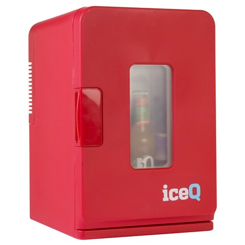 iceQ 15 Litre Deluxe Portable Mini Fridge With Window - Red [Energy Class A] iceQ15rw