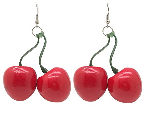 (Crizan RED Cherry Earrings)