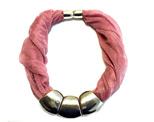 fashion scarf jewelry magnetic scarf rings end caps cuts