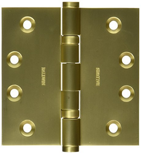 Baldwin 1041034I Square Ball Bearing Mortise Hinge, Unlacquered Vintage Brass by Baldwin ()