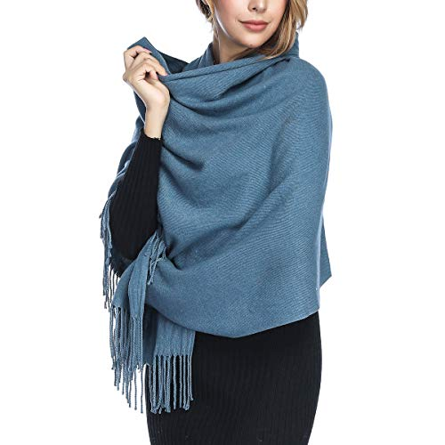 Extra Large Thick Soft Cashmere Wool Shawl Wraps for Women - PoilTreeWing Pashmina - Wrap Scarf Wool Thin
