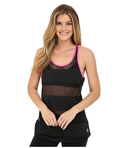 (adidas Performance Women's Spring Break Mesh Tank Top, Large, Black)