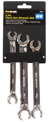 Pro-Grade 19017 3-Piece Metric Flare Nut Wrench Set