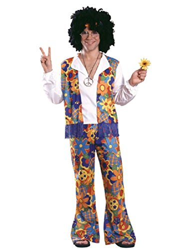Rubie's 60's Revolution Adult Hippie, Multicolored, One Size Costume -