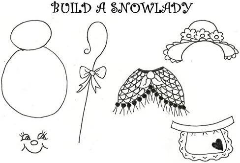 Art Stamps A6 Jill Taylor Build a Snowlady Stamp
