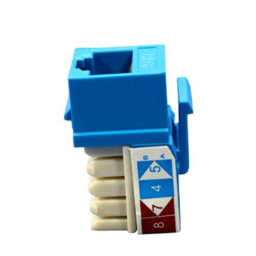 Cooper Blue Cat 6 Modular Data Jack 5546-6BL
