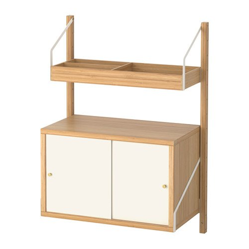 Ikea Wall-mounted storage combination, bamboo, white 8204.261414.2226 by IKEA