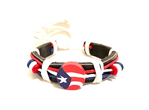 Boricua , Puerto Rico, Puerto Rican, Leather wristband Cool Puerto Rico flag wrist band design - Rico Wristband