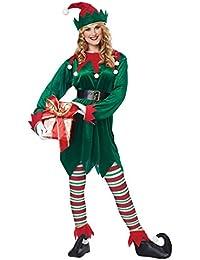 Christmas Elf Adult, Green/Red, Small/Medium
