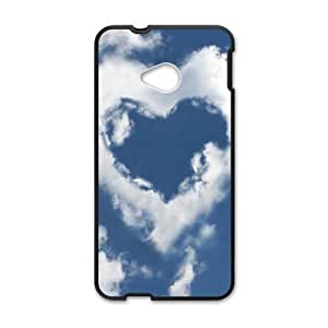 Personalized Creative Cell Phone Case For HTC M7,heart clouds sky