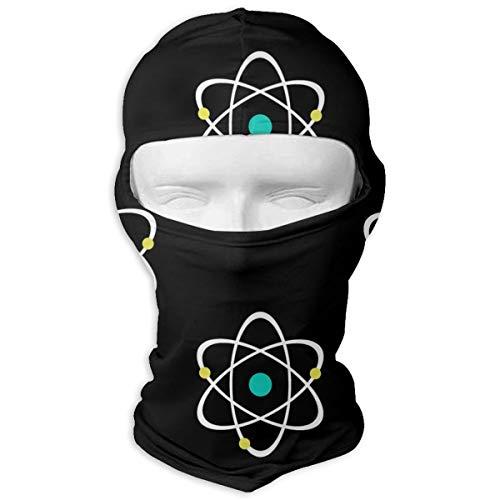 (TLDRZD Balaclava Face Mask Windproof Ski Masks Motorcycle Cycling Warm Masks for Women and Men Skiing Cycling Hiking - Atomic Nucleus Black)