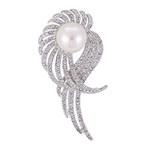 Rainbow Box Pearl Brooch Pins with Swarovski Crystal, Rhinestone Women's Brooches & ()