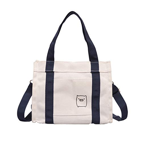 46719b351d98 Yiwanjia Durable Canvas Classic Shoulder Bag Casual Durable Crossbody Bags  Lightweight Tote Handbags Casual Shoulder Work Bag Crossbody (Blue ...