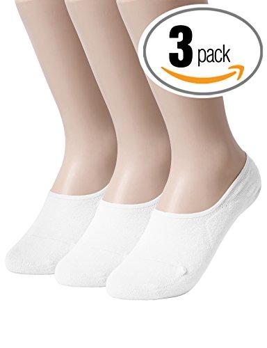 Slip Low Cut Boat Socks for Men WHITE XL (SET3KWMS0379) ()