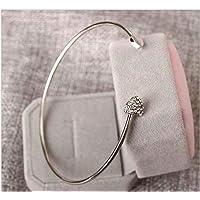 M.G.D 925 Silver Women Bangle Cuff Bangle Charm Bracelet