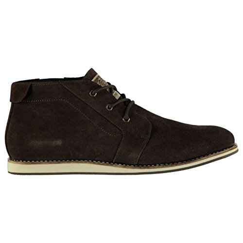 Firetrap Mens Penton Desert Boots Lace Up Shoes Suede Upper Contrast Stitching Brown 8.5